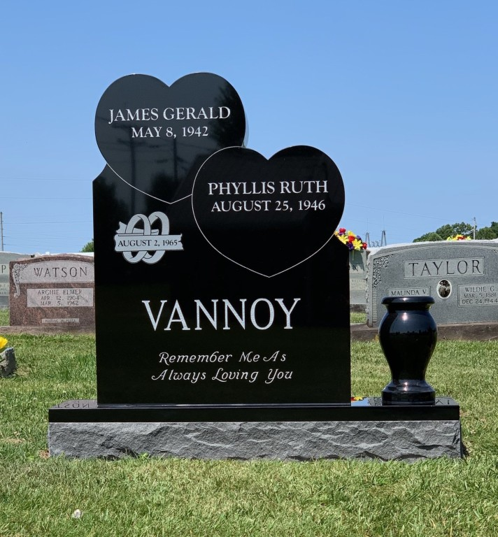 Headstone for Gerald and Phyllis Vannoy