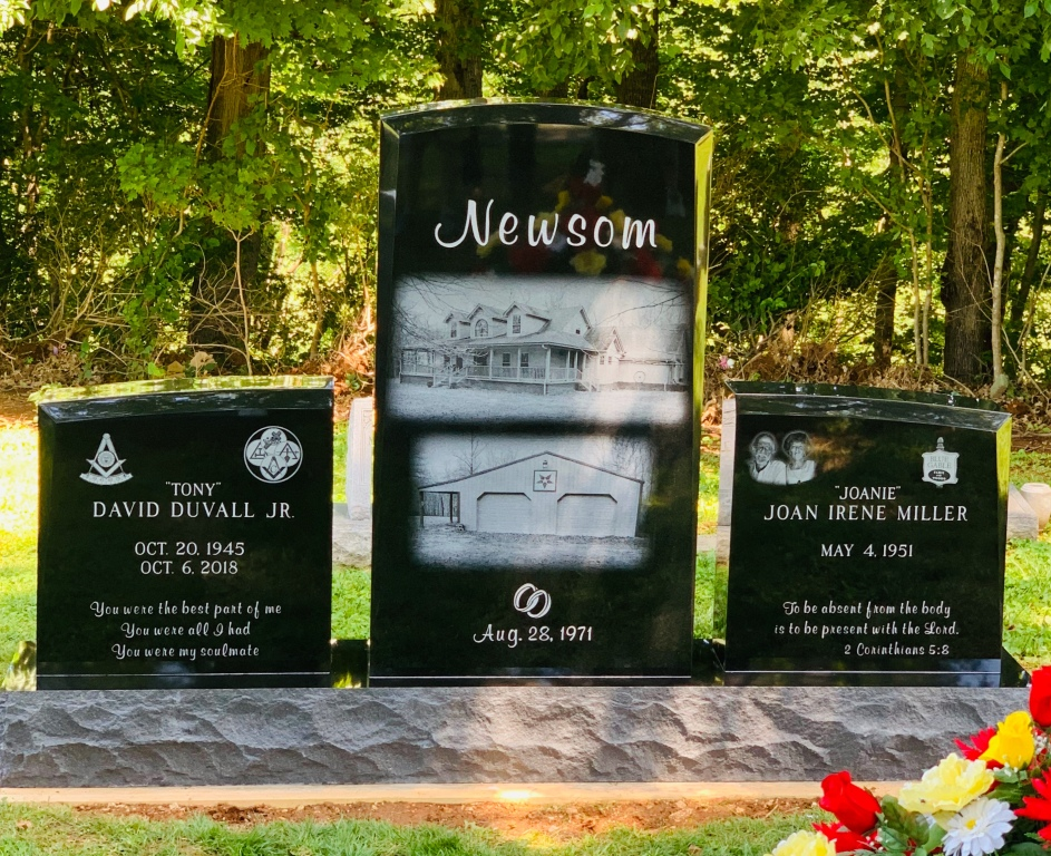 Headstone for Tony and Joanie Newsom