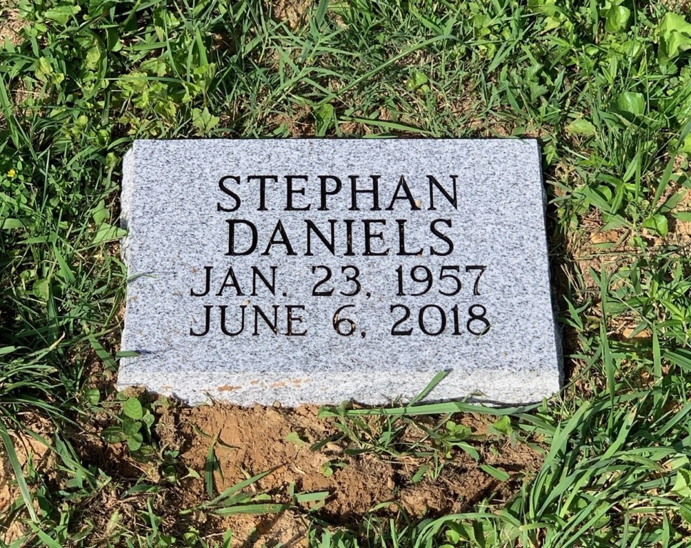 Flat granite marker for Stephan Daniels