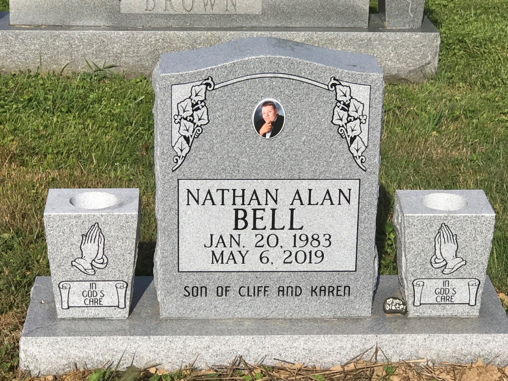 Headstone for Nathan Bell