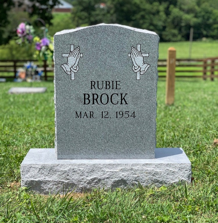 Headstone for Rubie Brock