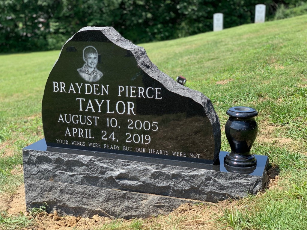 Headstone for Brayden Taylor