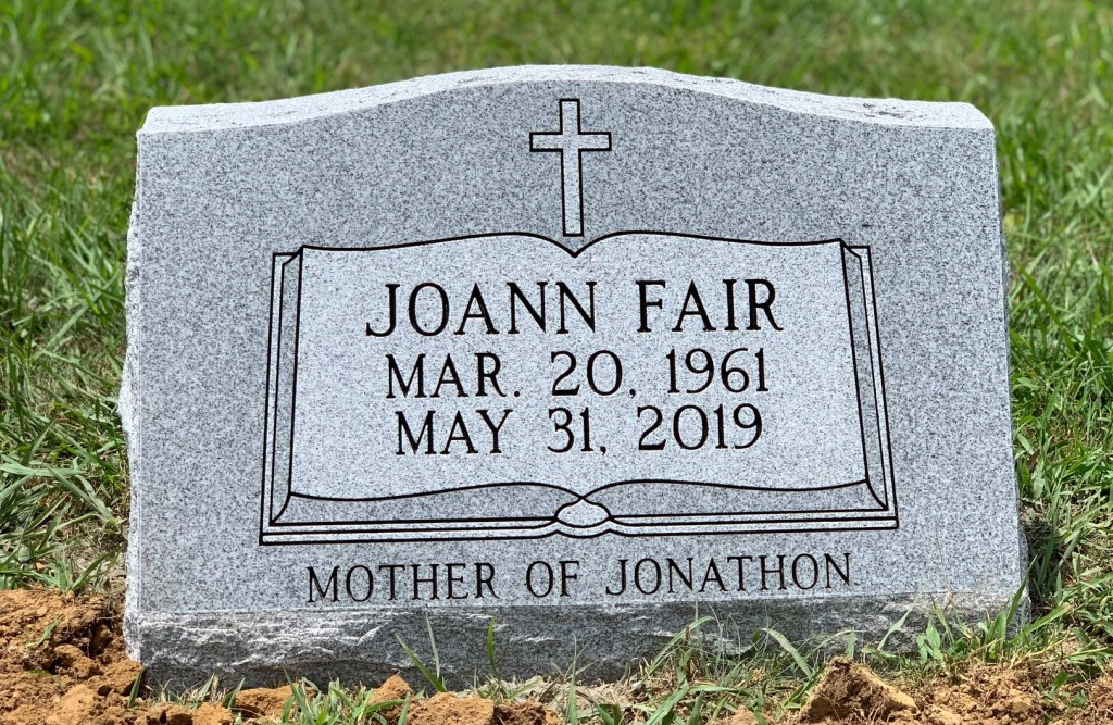 Slant marker for Joann Fair