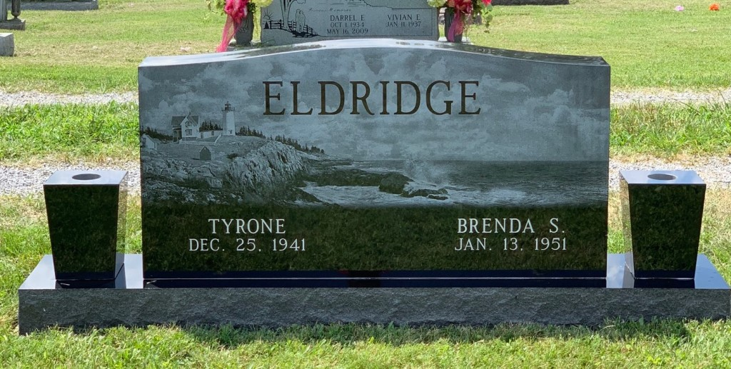 Headstone for Tyrone and Brenda Eldridge