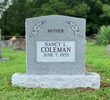 Headstone for Nancy Coleman