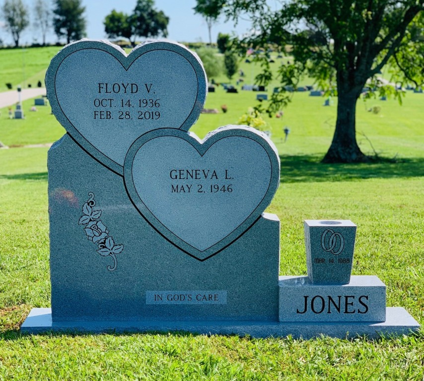 Headstone for Floyd and Geneva Jones