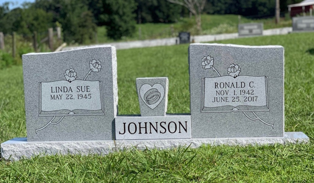Headstone for Ronald and Linda Sue Johnson