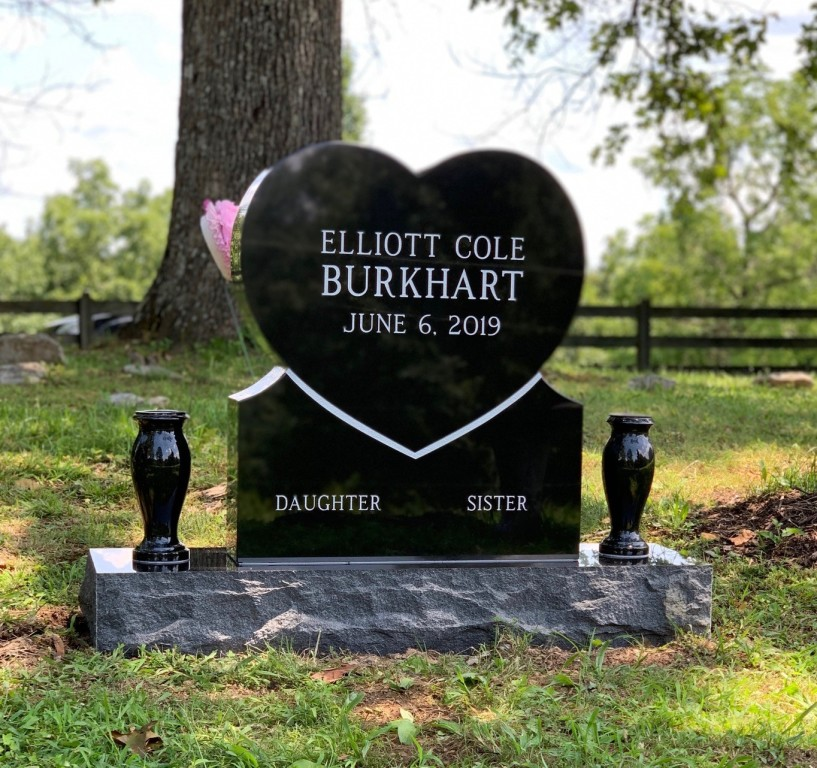 Headstone for Elliott Cole Burkhart