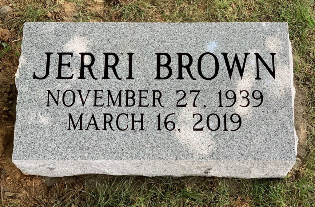 Bevel marker for Jerri Brown