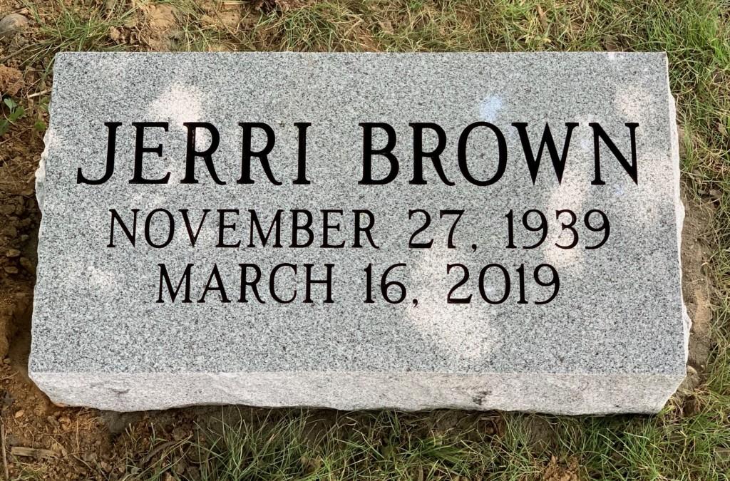 Bevel marker for Jerri Brown