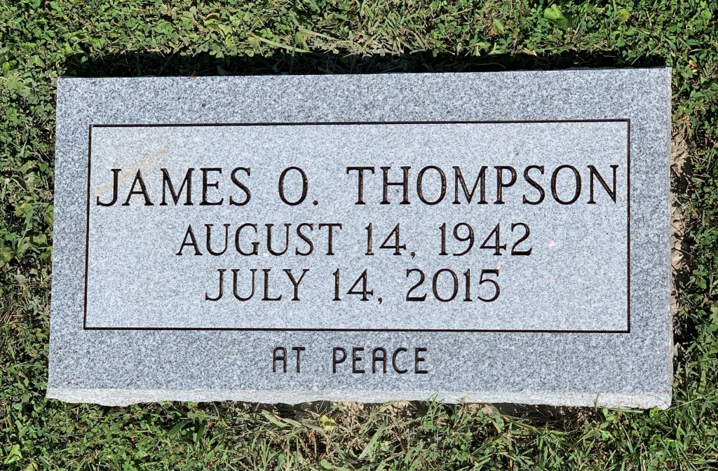 Flat marker for James Thompson