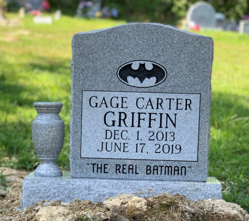 Headstone for Gage Carter Griffin