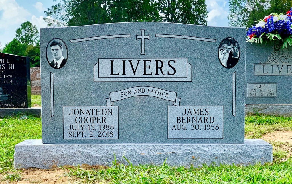 Headstone for Jonathon and James Livers