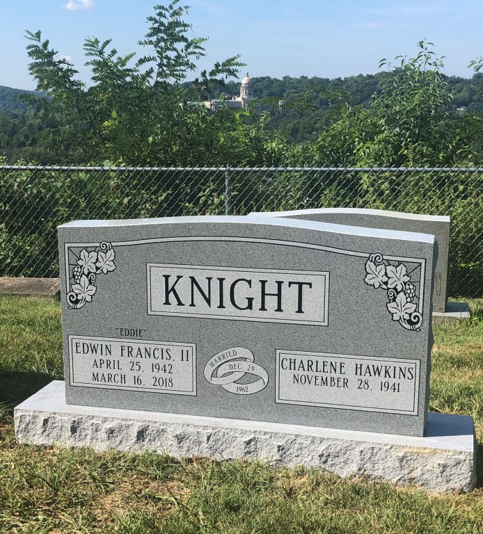 Headstone for Eddie and Charlene Knight