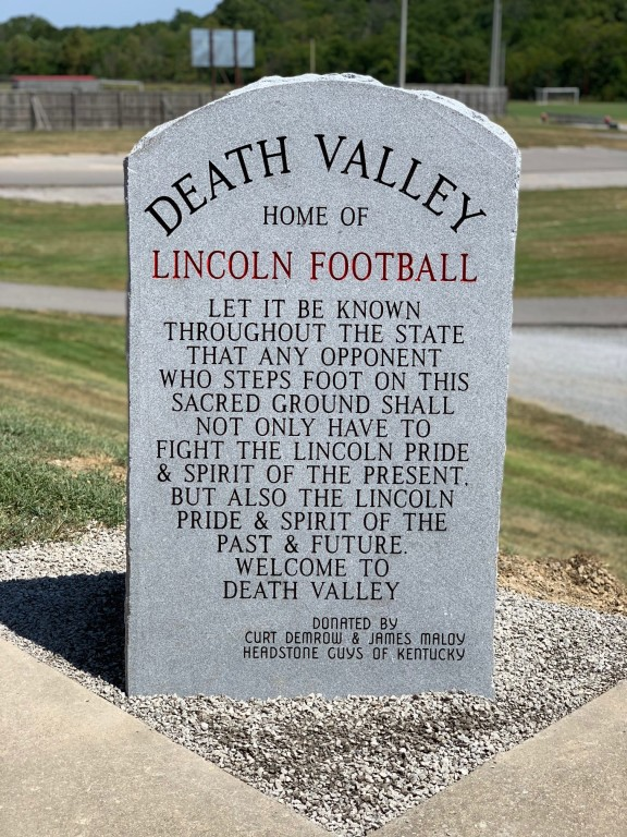 New Monument for Death Valley and Lincoln County High School Football Team
