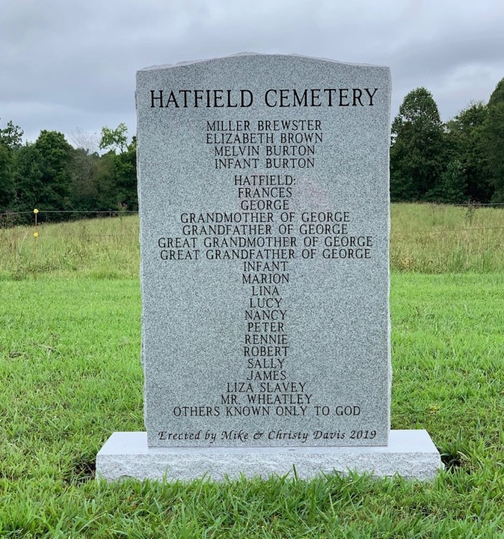 Sign for Hatfield Cemetery