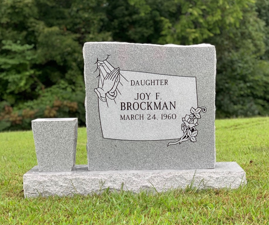 Headstone for Joy Brockman