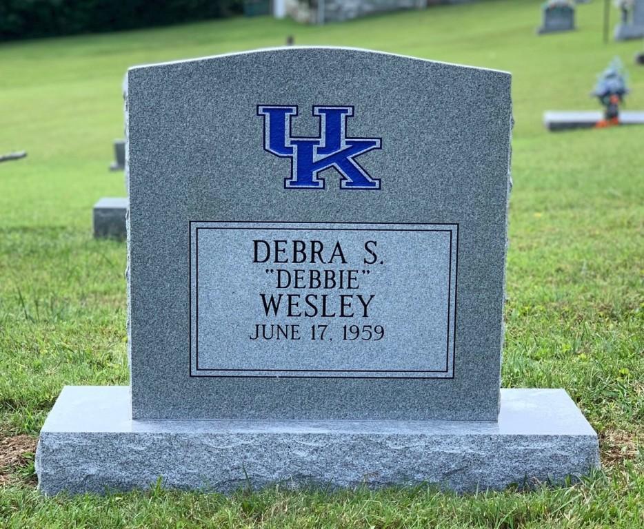 Headstone for Debbie Wesley