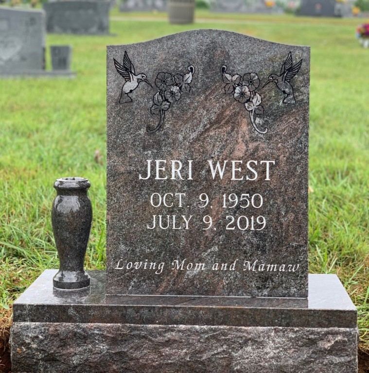 Headstone for Jeri West