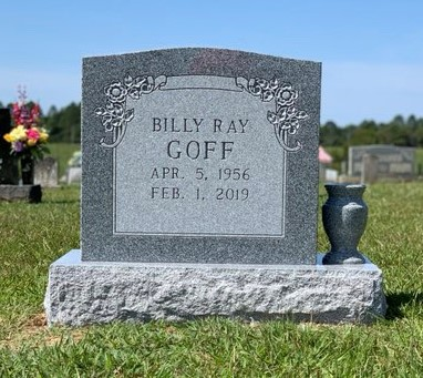 Headstone for Billy Ray Goff