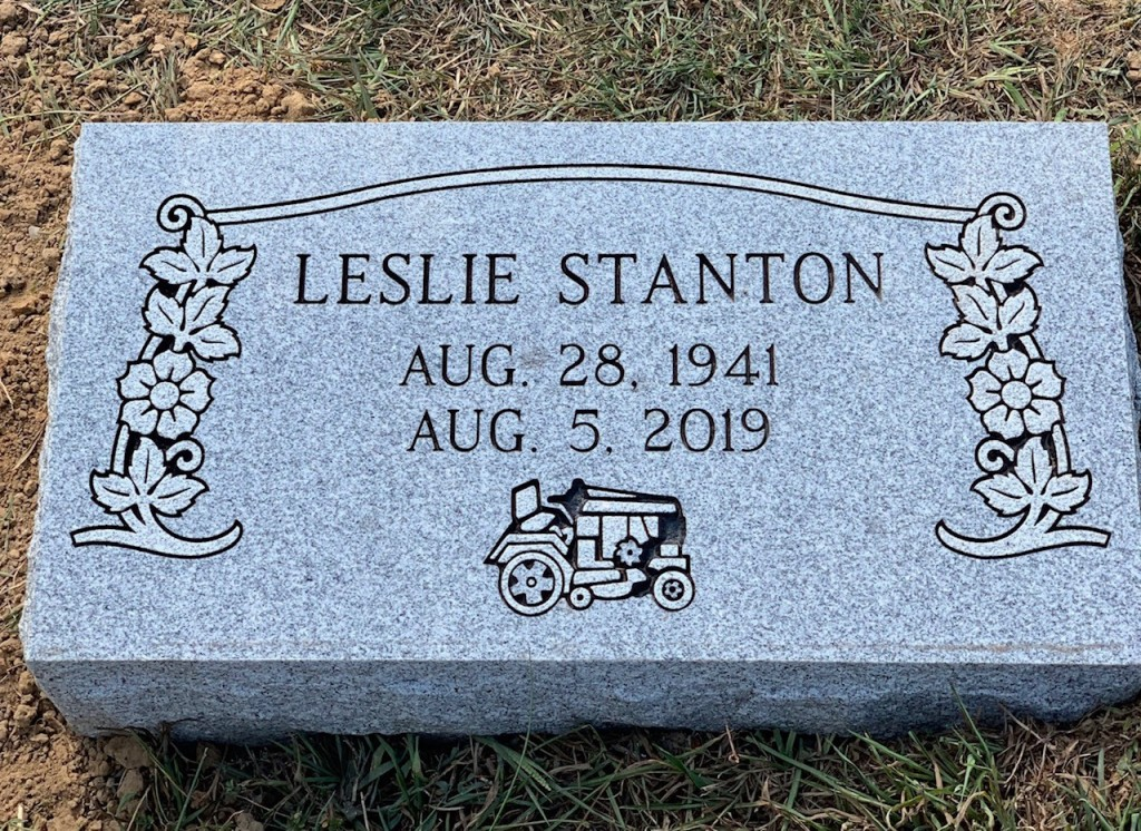 Bevel marker for Leslie Stanton