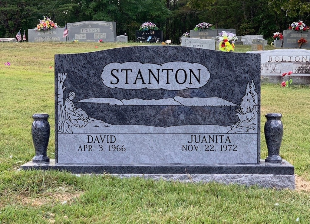 Headstone for David and Juanita Stanton
