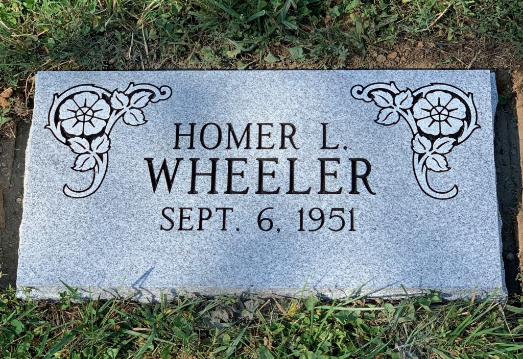Marker for Homer Wheeler