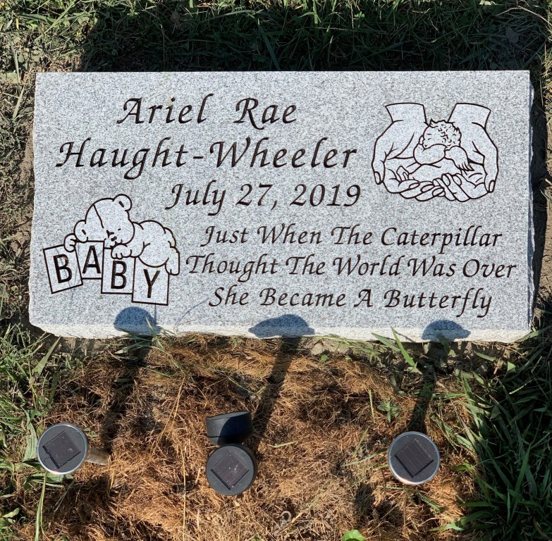 Bevel marker for Ariel Rae Haught-Wheeler