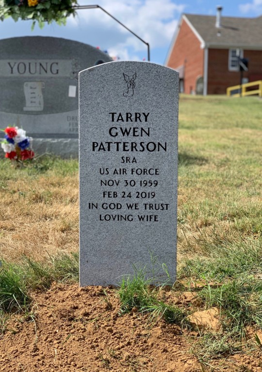 Upright Veteran's Headstone for Tarry Gwen Patterson