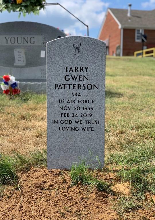 Upright Veteran's Headstone for Tarry Gwen Patterson