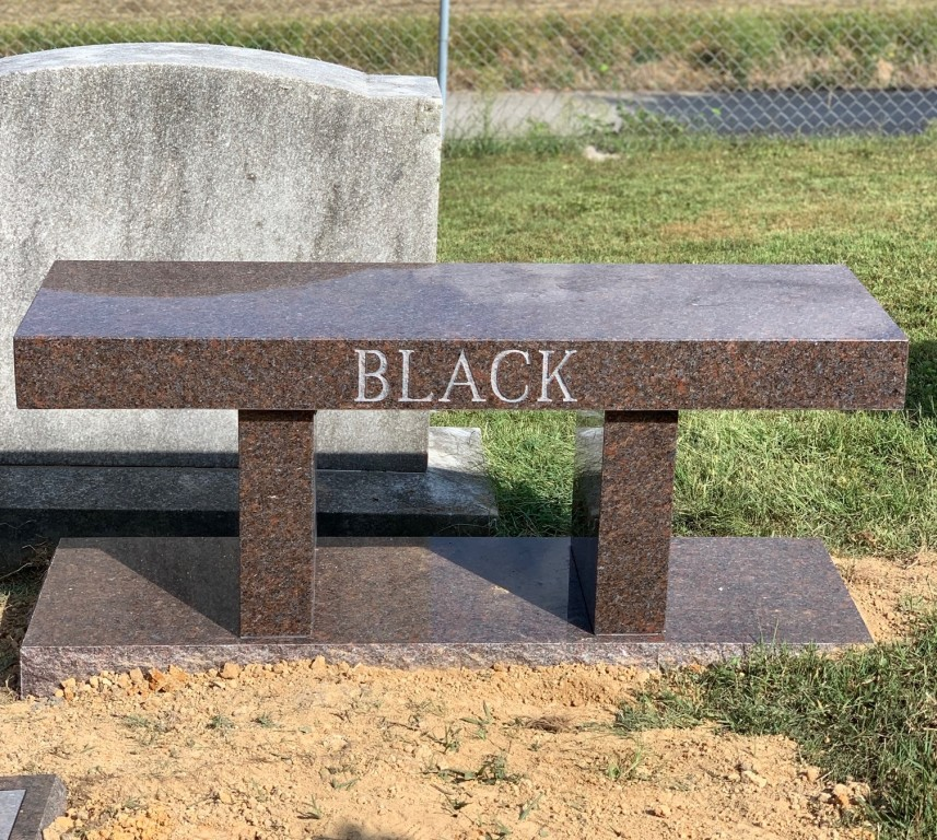 Bench for Mr. and Mrs. Black