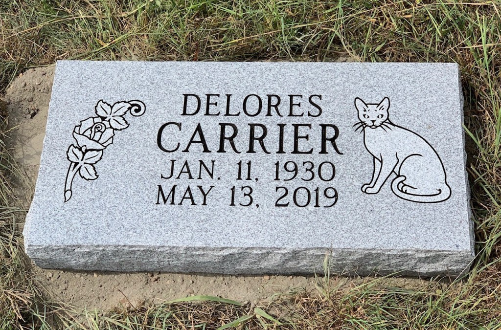 Flat marker for Delores Carrier