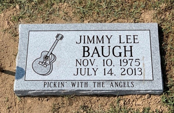 Flat marker for Jimmy Lee Baugh