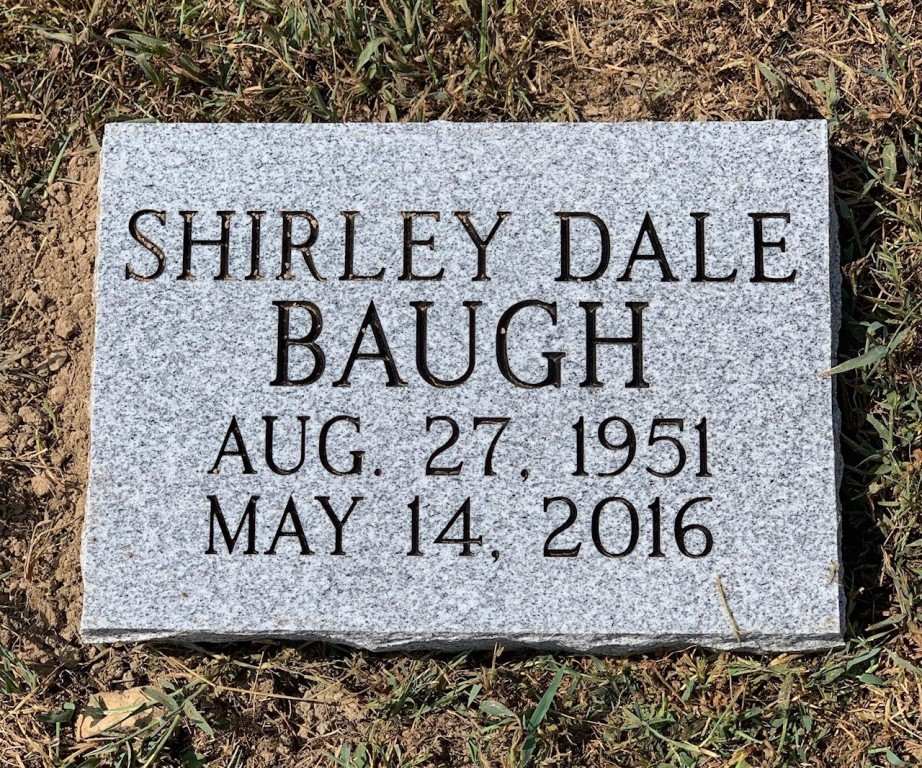 Flat marker for Shirley Dale Baugh