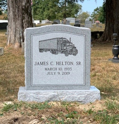 Headstone for James C. Helton, Sr.