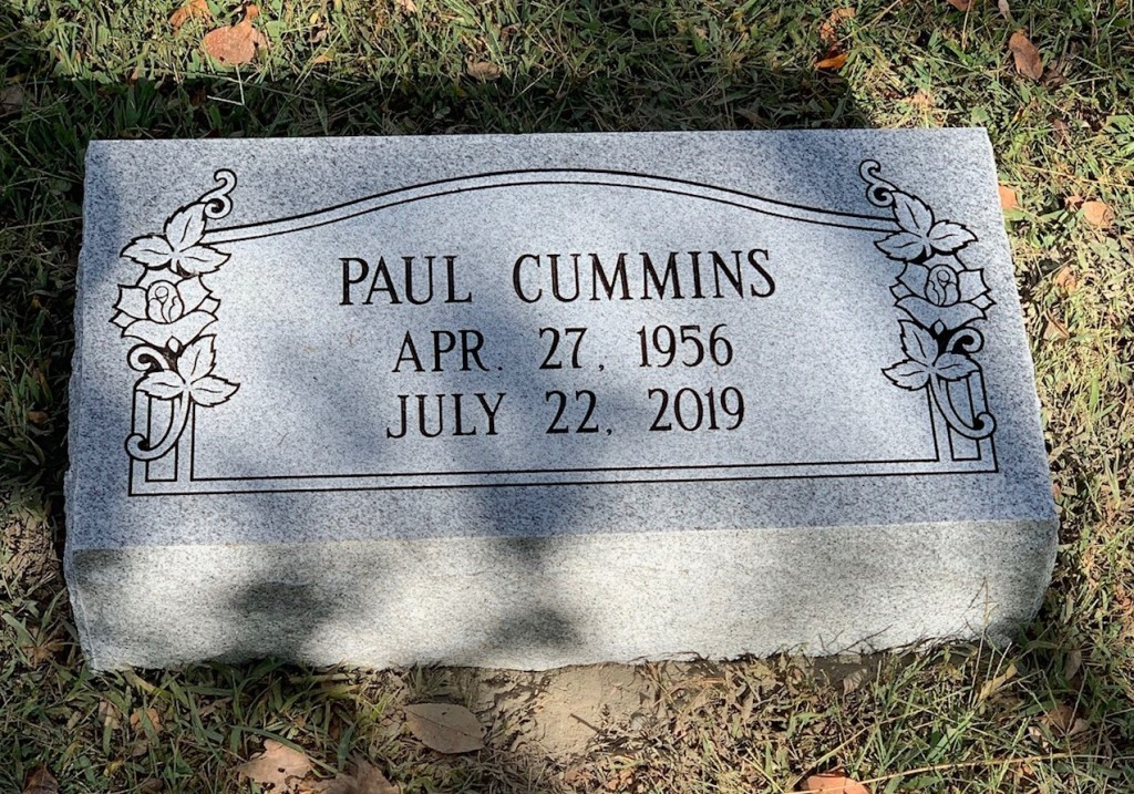 Bevel marker for Paul Cummins