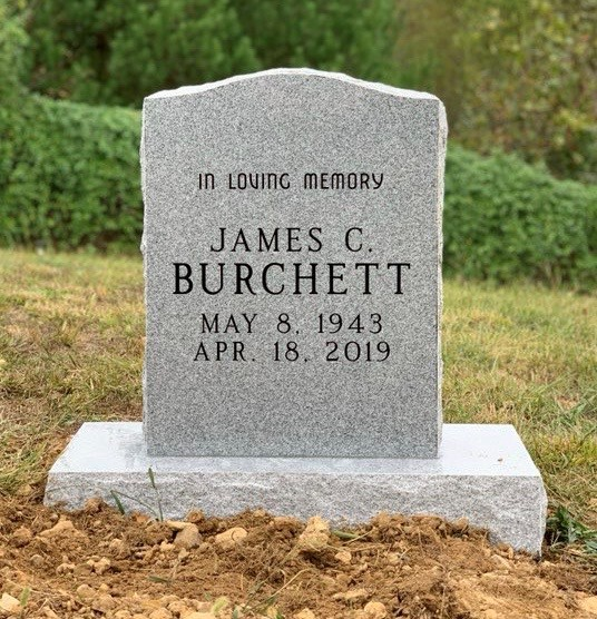 Headstone for James C. Burchett