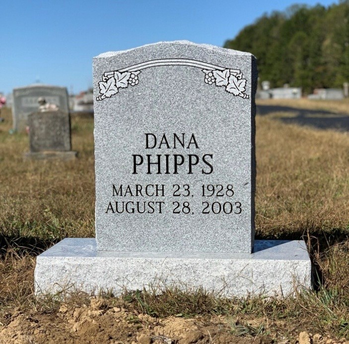 Headstone for Dana Phipps
