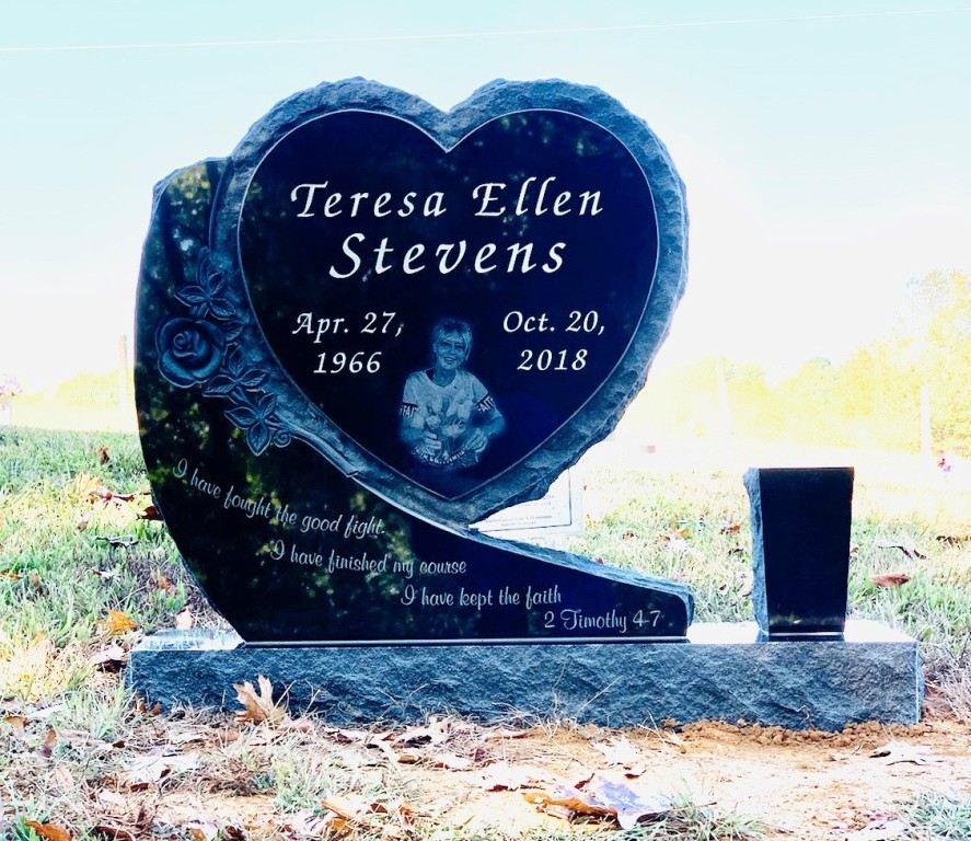 Headstone for Teresa Ellen Stevens