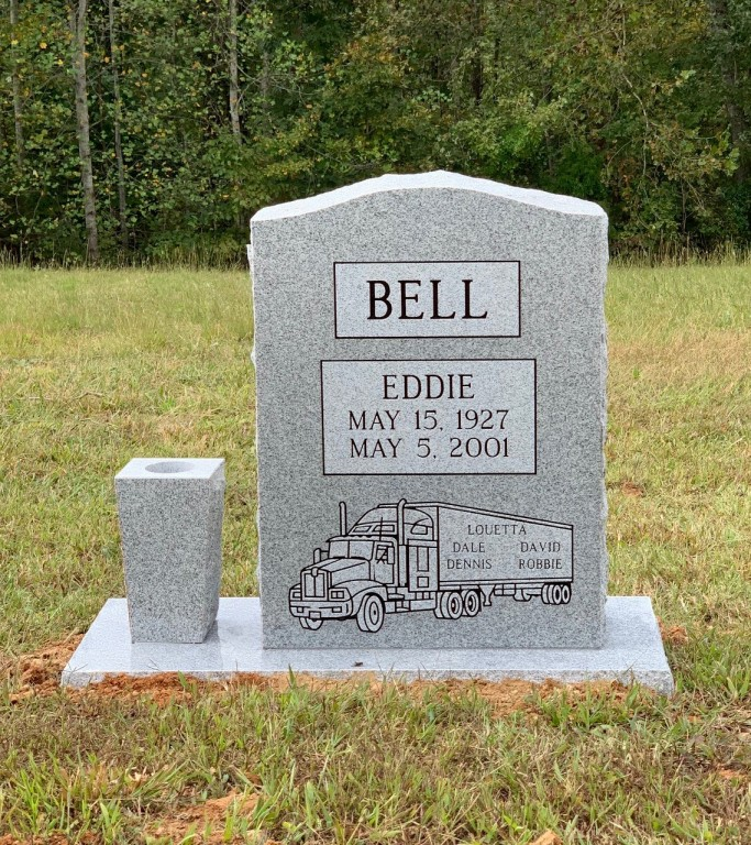 Headstone for Eddie Bell