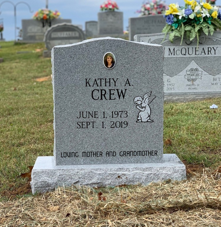 Headstone for Kathy A. Crew