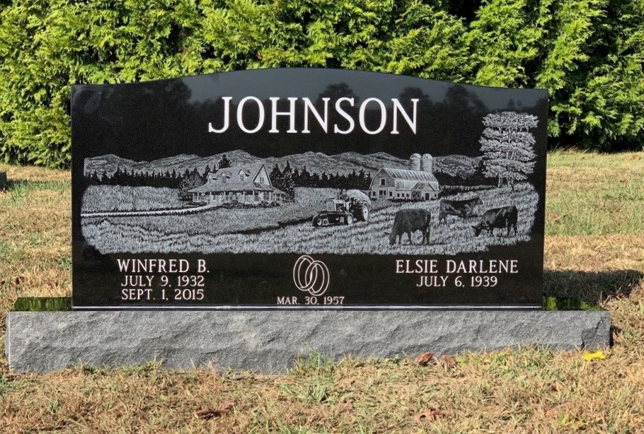 Headstone for Winfred and Elsie Johnson