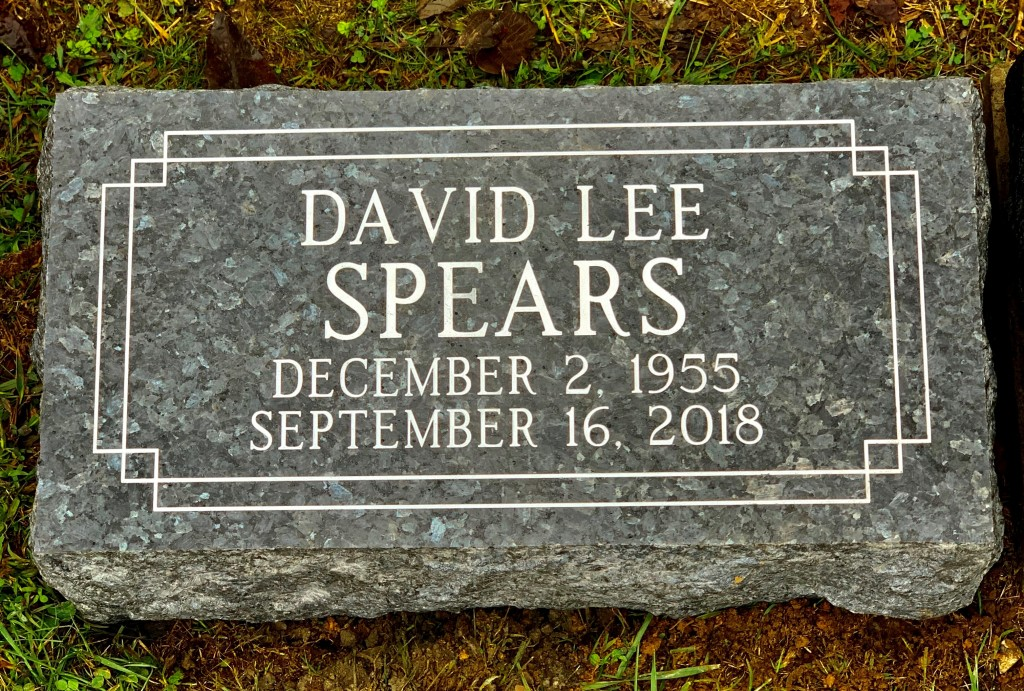 Blue Pearl Granite Bevel Marker for David Lee Spears