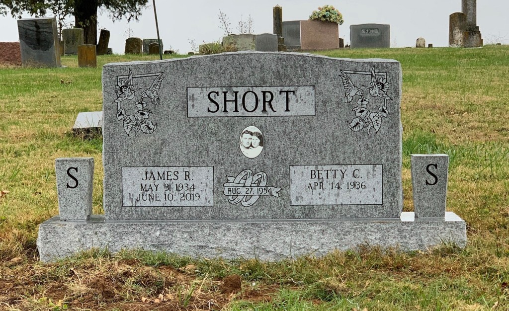 Headstone for James and Betty Short