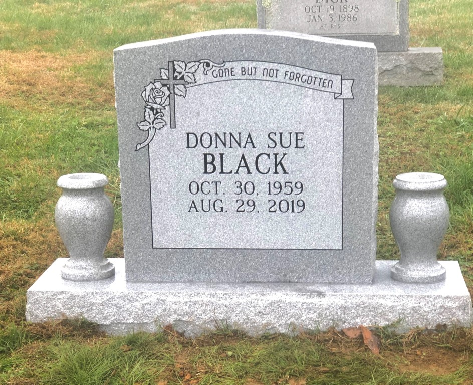 Headstone for Donna Sue Black