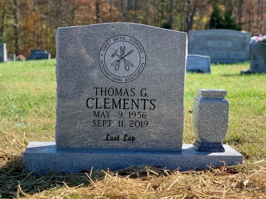 Headstone for Tom Clements