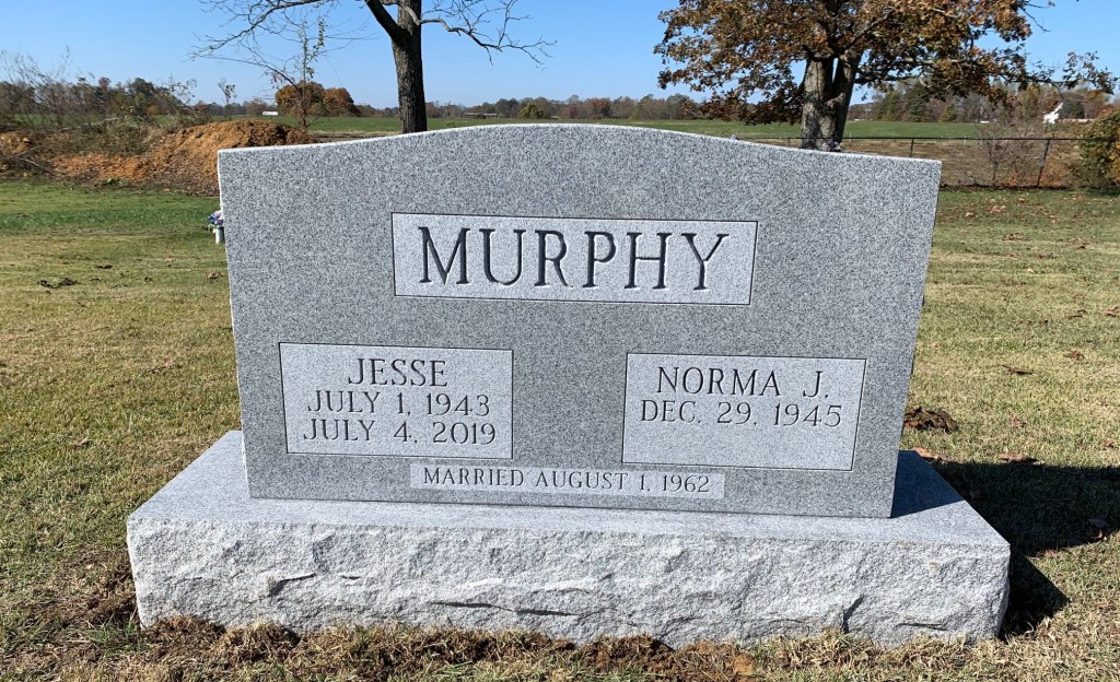 Headstone for Jesse and Norma Murphy