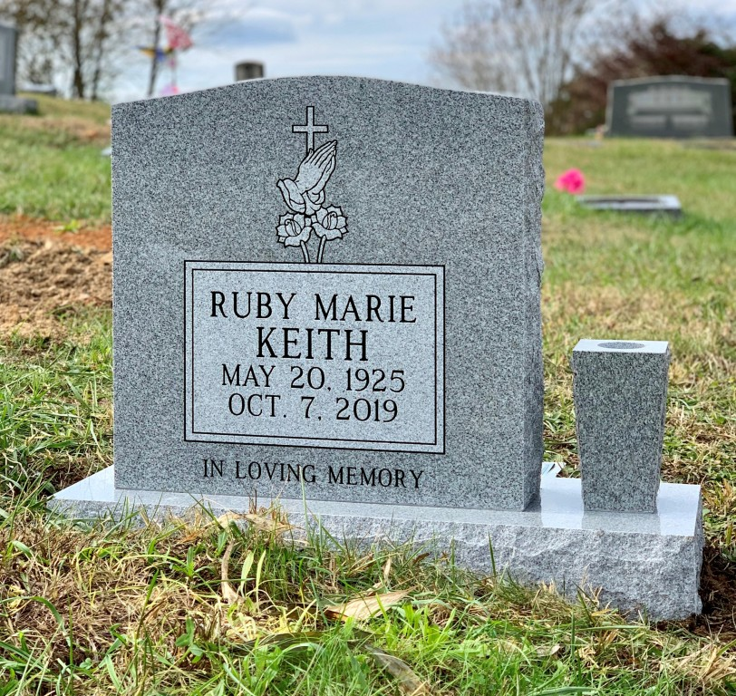 Headstone for Ruby Marie Keith