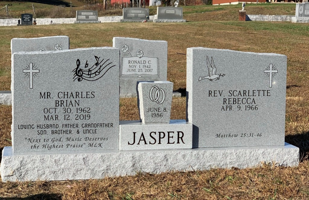 Headstone for Jasper family