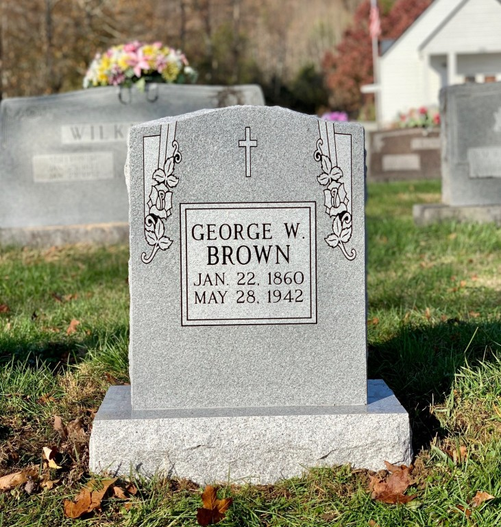Headstone for George W. Brown